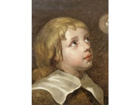 portrait of a boy with a bubble by sir anthony van dyck
