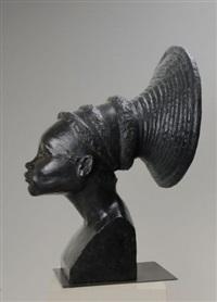 tête de nobusudru, femme mangbetou by auguste heng