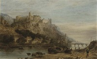heidelberg castle from across the river by thomas richard hofland