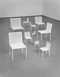 mimicry chairs, designed for the london design festival (group of 10 works) by nendo
