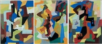 composition (4 works) by jean lescure
