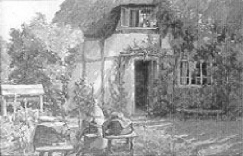 a cottage doorway by james townshend