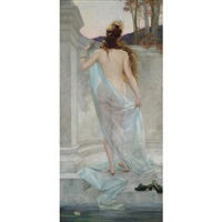 diana leaving her bath by edouard-marie-guillaume dubufe