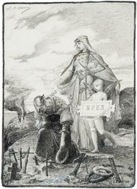 allégorie de l'espoir avec sainte geneviève by luc olivier merson