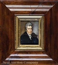 portrait miniature of andrew jackson (after aaron h. corwine) by ralph eleaser whiteside earl