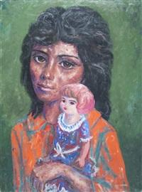 muchacha con muñeca by antonio berni