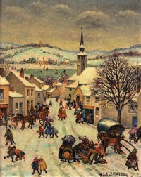 le marché en hiver by paul masson