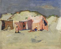 a beach scene by harrie kuyten