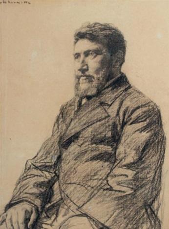 portrait de léditeur alphonse lemerre by léon augustin lhermitte