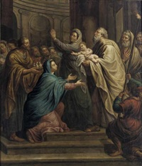 the presentation in the temple by pierre louis dumesnil