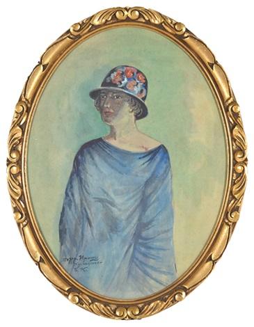 portrait of the artist's daughter; irina kustodiev by boris mikhailovich kustodiev