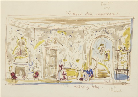 set design for the school for scandal by cecil beaton