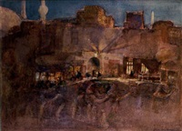 evening from near the citadel, cairo by henry simpson
