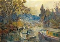 chemin de hâlage, issy les moulineaux by alexei konstantinovich korovin
