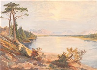 serene lake landscape by frederick warren freer