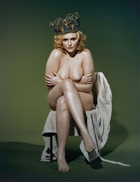 sophie dahl as a medieval king, paris, mars by bettina rheims