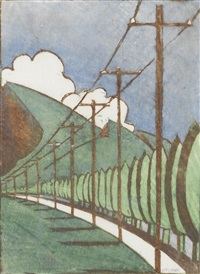 poplar trees and telegraph poles by ursula fookes