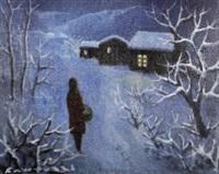 figura nella neve by eliano fantuzzi
