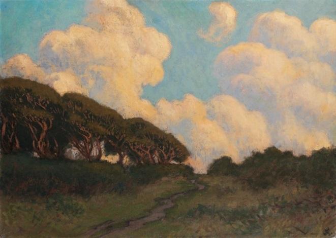 près des moutiers effet de nuages les bois de varangeville normandie by jean francis auburtin