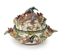 bird tureen (2 works) by ardmore ceramics