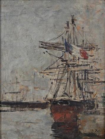 voilier à quai by eugène boudin
