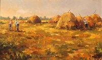 harvest scenery by nicolas goluschko