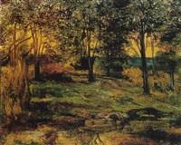 paisaje con árboles by joaquín clausell