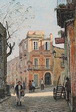 strada del belvedere by paul gustave fischer