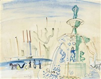 fontaine à cannes by raoul dufy