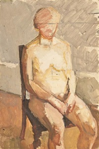seated nude by euan uglow
