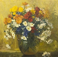 still life with flowers by frederic m. grant