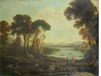 landscape with the marriage of isaac and rebecca by claude lorrain