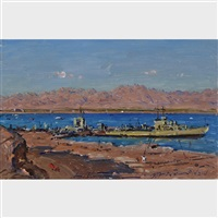 ships at eilat by ludwig blum