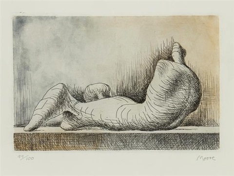reclining figure back by henry moore