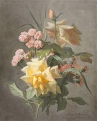 roses et pâquerettes by jean marie reignier