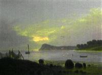 paysage de bord de mer by frederik michael ernst fabritius de tengnagel