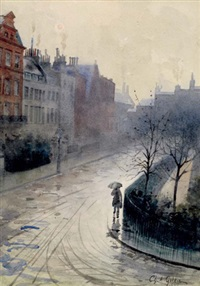 silhouette dans une rue by charles alphonse goldie