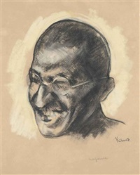 portrait of mahatma ghandi by jacob kramer