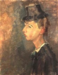 suzanne au chapeau by hippolyte daeye