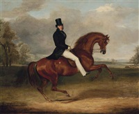 george augustus frederick, 6th earl of chesterfield, on his favourite hack by sir hercules by william henry davis