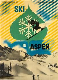ski in aspen colorado by herbert bayer