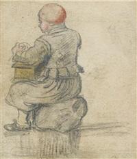 garcon assis sur une pierre by hendrick avercamp