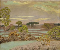 paysage au bouleau by charles lacoste