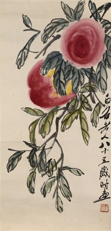 peaches by qi baishi