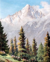 aiguille verte - chamonix by jacques charles fourcy