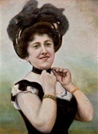retrato de dama by ventura alvarez sala