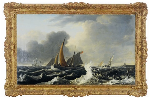 ships in rough seas by ludolf backhuysen the elder