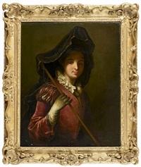 portrait de femme en pèlerine by jean-baptiste santerre