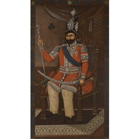 a portrait of muhammad shah qajar by ahmed