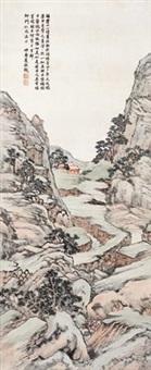 幽山隐居图 by xia jingguan